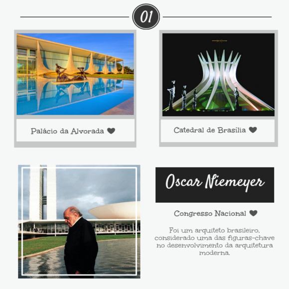 monumentos desenhados por Niemeyer