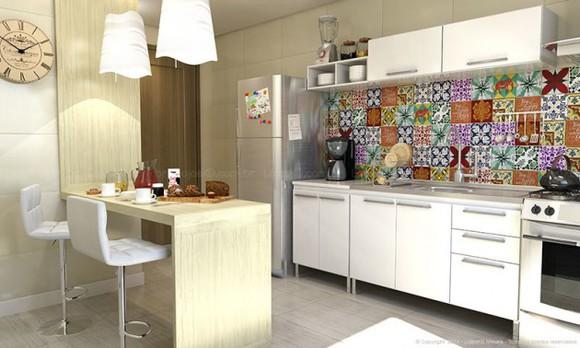 azulejos de cozinha bege