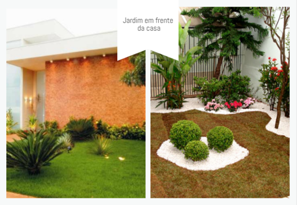 jardim em frente da casa