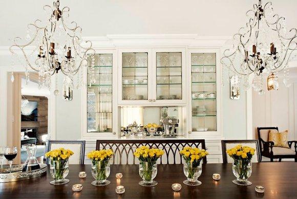 flores para salas de jantar