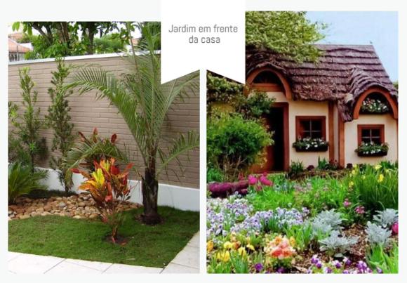Jardim residencial para frente de casa