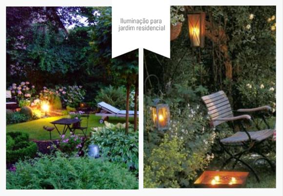 iluminação para jardim residencial