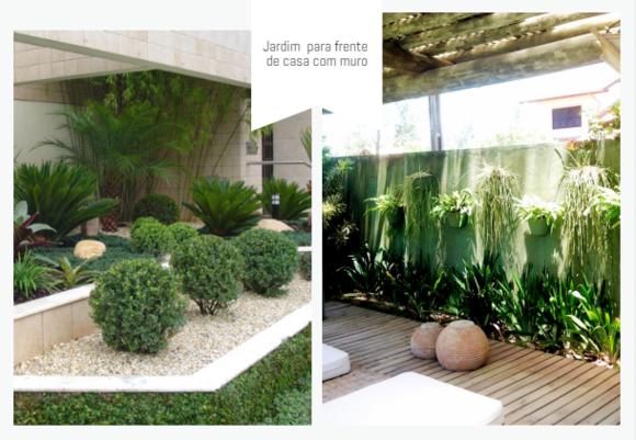 Jardim para com muro