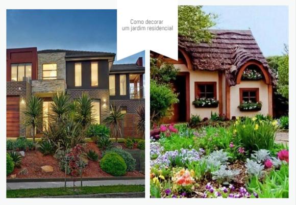 como decorar um jardim residencial