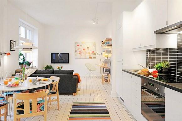 cozinhas conjugada com a sala