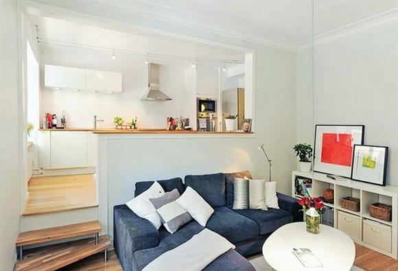 cozinha conjugada com sala em apartamento pequeno