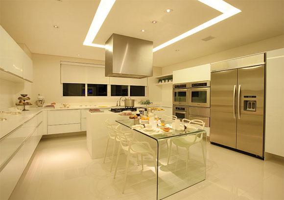 Cozinhas das casas pequenas