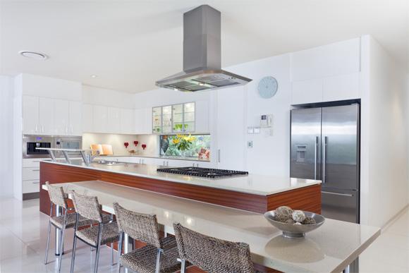 Cozinha da casa pequena